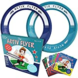 Activ Life Best Kid's Flying Rings [Navy/Teal] 2 Pack - Best for Grandson & Granddaughter Toys Young Niece Teen Nephew Gifts or Holiday Presents - Top Xmas 2021 and Fun Ideas for Child of Any Age