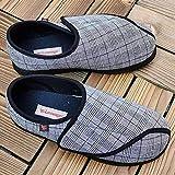 Nwarmsouth Zapatillas Edema Artritis Edema Ancho,Zapatos de rehabilitación Ajustables, Zapatos de pie valgus para Ancianos -48_Black,Zapatillas hinchables Ajustables