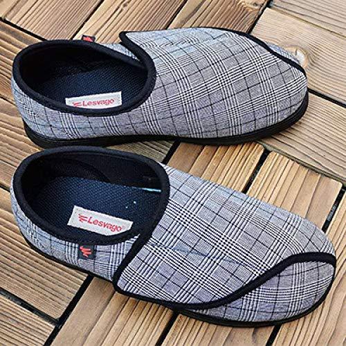 Nwarmsouth Zapatos ortopédicos Ajustables,Zapatos de rehabilitación Ajustables, Zapatos de pie en valgo para ancianos-42_ Negro,Zapatos ortopédicos Ajustables
