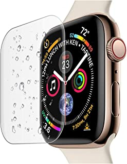 Compatible Apple Watch Band 44mm Screen Protector Series 4 Tempered Glass, 2 Pack Full Coverage Curved Screen Protector Fi...