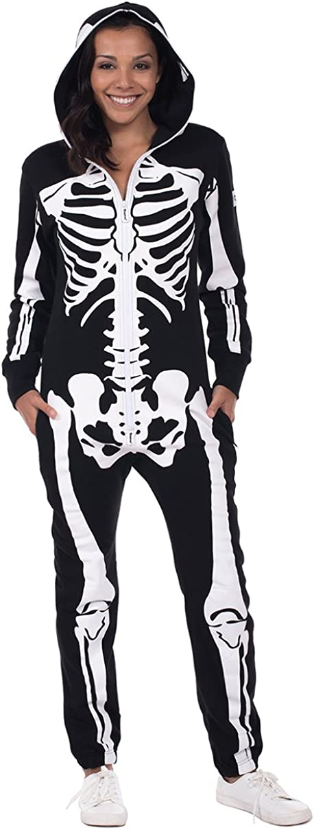 Tipsy Elves' Women's Skeleton Costume - Mail order Ha White Max 54% OFF and Scary Black