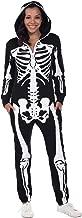 Tipsy Elves Women's Skeleton Halloween Costume with Back Printing - Skeleton Costume Jumpsuit Onesie Female