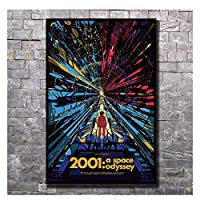 Suuyar ポスター映画2001スペースオデッセイフィルムウォールキャンバスプリントモダンペインティング家の装飾写真壁にプリント-50X75Cmフレームなし