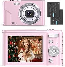 Digital Camera - Compact Vlogging Camera 1080P with 36.0 Mega Pixels 16X Digital Zoom, 2 Batteries, AUFOYA Portable Mini C...