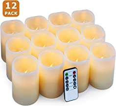 Hausware Flameless Candles LED Candles Set of 12 (D:3