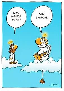 """Cartoon-Postkarte Ralph Ruthe /""""Hoffentlich werde ich nie so verzweifelt./"""""""