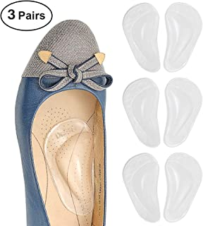 Dr. Foot's Arch Support Shoe Insoles for Flat Feet, Gel Arch Inserts for Plantar Fasciitis, Adhesive Arch Pad for Relieve Pressure and Feet Pain- 3 Pairs (Clear)