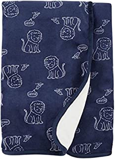 Carter's Baby's Plush Blanket (Navy Lion, One Size)