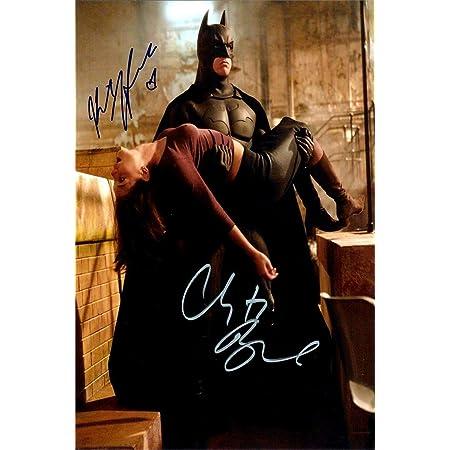 Framed Cast of Batman Begins Autograph Replica Print Batman 8x10 Print