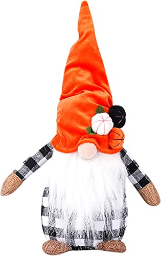 lowest Autumn Harvest lowest Festival Thanksgiving Gnomes Plush, Halloween Gnome, Pumpkin Maple Leaf Gnome Ornament Decoration for Halloween lowest Farmhouse Table Ornaments Gifts (Style B) outlet online sale