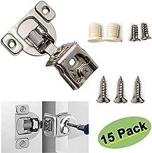 homdiy Cabinet Hinges Brushed Nickel - 15 Pack 1-1/4