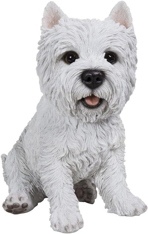 Hi-Line Gift Ltd Sitting Dog Terrier White Challenge the lowest price of Japan ☆ Discount is also underway Statue