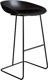 Arte de Hierro Taburetes de Bar Sillas de Pub para el Desayuno en el Taburete de la Cocina con Asiento/reposapiés Confort, Taburete de Bar nórdico Metal Creativo Silla del Comedor, Negro