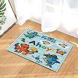cdhbh Nautical Marine Decor Octopus und Shark wie Piraten für erziehen Kinder Bad Teppiche rutschhemmend Fußmatte Boden Eingänge Innen vorne Fußmatte Kinder Badematte 39,9x 59,9cm Badezimmer Zubehör