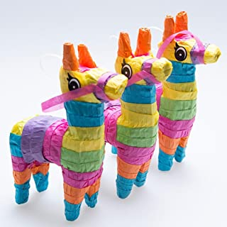Rhode Island Novelty 4 x 7 Mini Donkey Pinatas Set of 3
