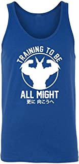 KKLDOGS Design Training to Be All Might Boku No - My Hero Academia Inspired Gym Mens Tank Top