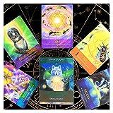 Tarots Tarjetas Deck versión Regular 3rd Edition Poker Tamaño Papel FullColor Divinación Divinación Juego Marrón (Color : Clear)
