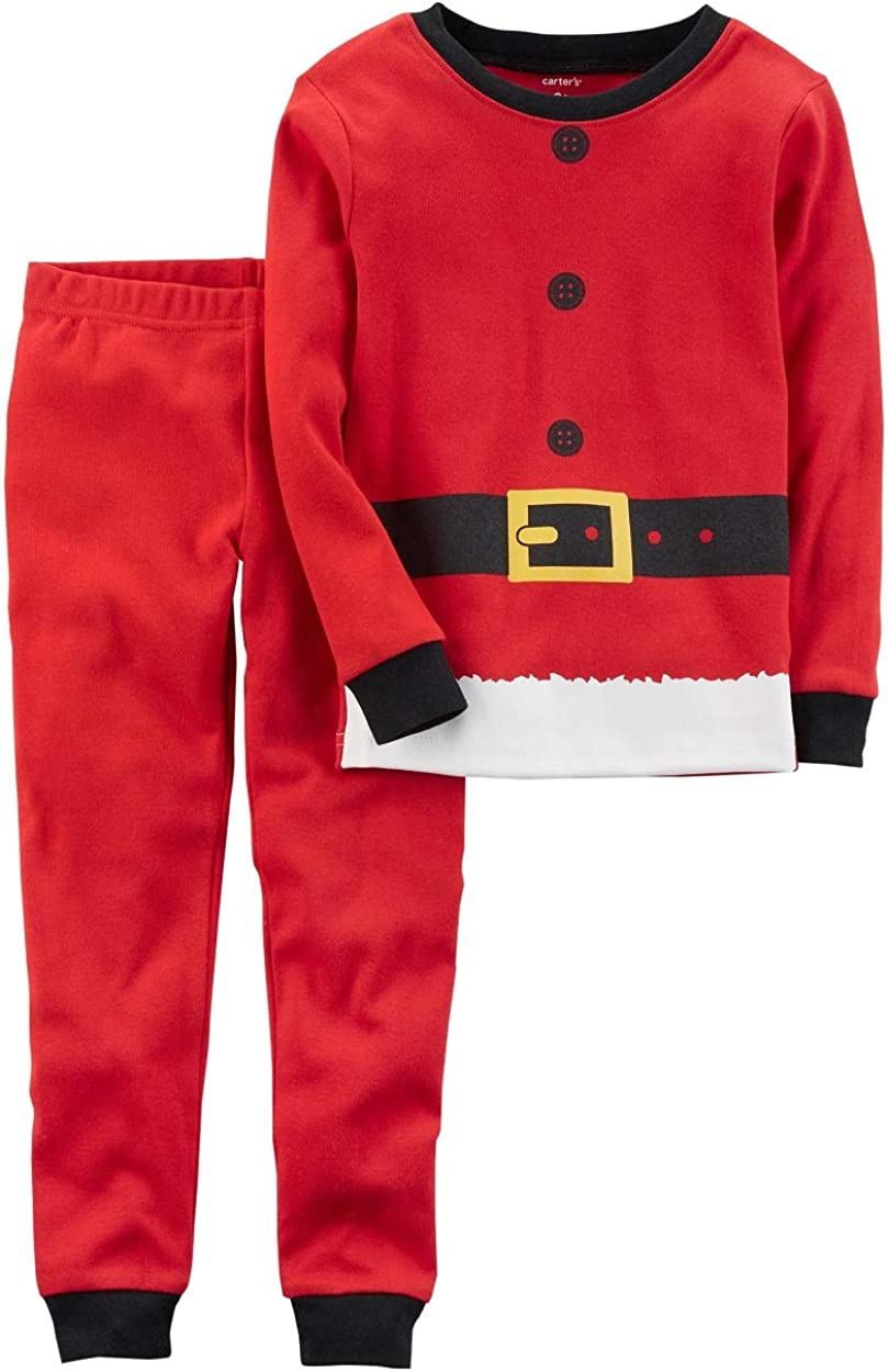 Carter's 2-Piece Christmas Snug Fit Cotton PJs for Toddler Size 3T Red
