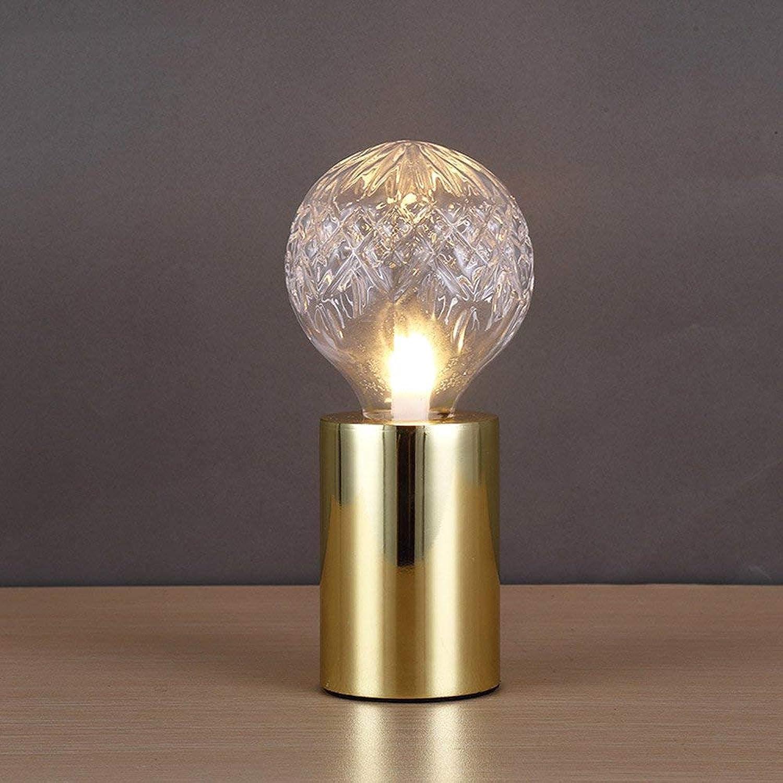 Retro Einfache Metall Desktop Nachtlicht Nordic Persnlichkeit Kristallglas Lampe Tischlampe Schlafzimmer Nacht Wohnzimmer Lesen Schreibtisch Licht