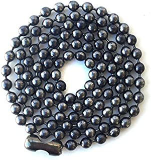 Carbon Steel Ball Chain Gunmetal Necklace Large Bead, 4.8 mm, 30""