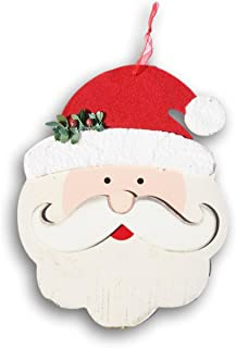 Christmas House - Wooden Santa Face Hanging Sign - 8.5 x 10.5 Inches