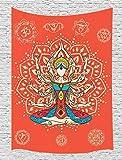 Tapiz de yoga JAWO para colgar en la pared, color morado, psicodélico, chakra indio, meditación, mandala, hippie, decoración de pared de arte para el hogar, tapices para recámara, sala de estar,...