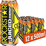 Rockstar Energy Drink Juiced Mango Orange 12x 500ml