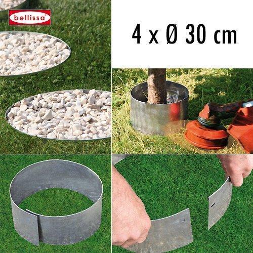 4-er Set Rasenkante Kreis Ø 30 cm H. 13 cm 10098