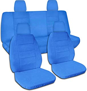 Totally Covers compatible with 2018-2020 Jeep Wrangler JL Solid Colour Seat Covers: Light Blue - Full Set: Front & Rear (2...