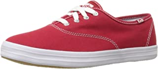 Keds Women's Champion Original Canvas Lace-Up Sneaker, Red, 10 M US