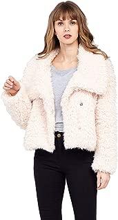 Janisramone Ladies Womens New Fluffy Faux Fur Teddy Bear Jacket Long Sleeve Oversized Winter Warm Coat