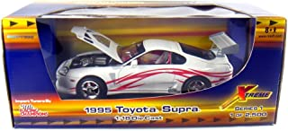 1995 Toyota Supra Import Tuners 1:18 Scale (White/Red Stripes)