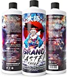 GRAND MASTER SMOKE (32oz) Soak & Wash Biodegradable Formula - Bong Cleaner / Glass Pipe & Hookah Cleaner - Sanitize + Deodorize, Restores 420 & 710 Heady Glass Back To New - No Shaking/No Scrubbing