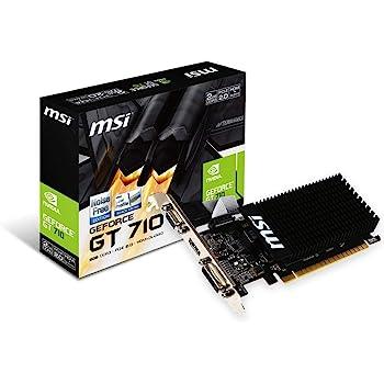 MSI V809-2000R NVIDIA GeForce GT 710 2GB - Tarjeta gráfica (Pasivo, LP/ATX, NVIDIA, GeForce GT 710, GDDR3, PCI Express x8 2.0)