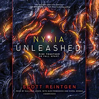 Nyxia Unleashed     The Nyxia Triad, Book 2              Auteur(s):                                                                                                                                 Scott Reintgen                               Narrateur(s):                                                                                                                                 Sullivan Jones,                                                                                        Alex Romashov,                                                                                        Carol Monda                      Durée: 10 h et 44 min     1 évaluation     Au global 5,0