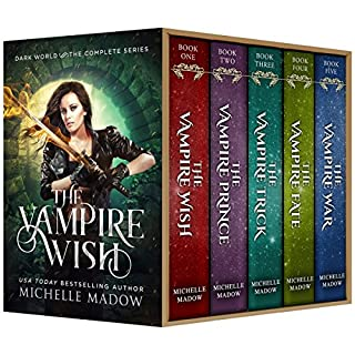 The Vampire Wish: The Complete Series (Dark World)                   Written by:                                                                                                                                 Michelle Madow                               Narrated by:                                                                                                                                 Patricia Santomasso                      Length: 23 hrs and 55 mins     11 ratings     Overall 4.9
