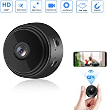 $37 » Mini Camera WiFi Wireless Video Camera 1080P HD Small Home Security Surveillance Cameras with 32G SD Card, Portable Tiny Nanny Cam with Night Vision Motion Detection for Car Indoor Outdoor