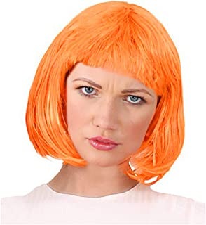 Colorful Page Boy Bob Character Costume Wig - One Size