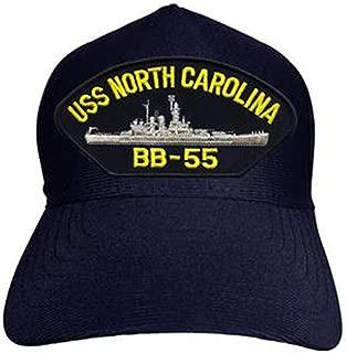 USS North Carolina BB-55 Baseball Cap. Navy Blue. Made in USA