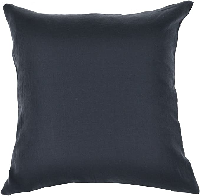 Amazon Com Lino Denim Lumbar Pillow 14 X 35 100 Pure Linen Includes Feather Down Fiber Insert Home Kitchen