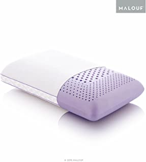 MALOUF ZZTRMPASZL Z Zoned Dough Memory Foam Infused with Real Natural Lavender Oil Aromatherapy Pillow Spray Included, King, Purple