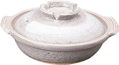 山下工芸(Yamasita craft) 灰釉 刷毛目9号鍋 32×29×15cm 11433140