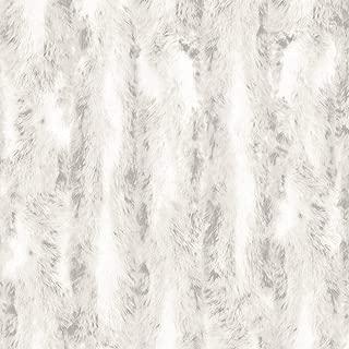 Norwall G67950 Chinchilla Fur Wallpaper, Light Grey, Weathered White