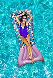 Ideas In Life Inflatable Pool Floats for Adults Funny - Giant Floaties for Adults Kids Pool Floats - Mermaid Pool Floatie