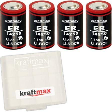 4x Kraftmax Ls 14250 1 2 Aa Mignon Lithium 3 6v Elektronik