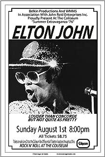 Raw Sugar Art Studio Elton John 1976 Cleveland Concert Poster