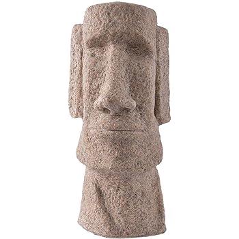 ZYBZYH Isla De Pascua Moai Estatua DecoracióN para El Hogar Y Adornos De JardíN Estatuas Figura De ColeccióN Escultura De Polyresin Manualidades Regalo: Amazon.es: Hogar