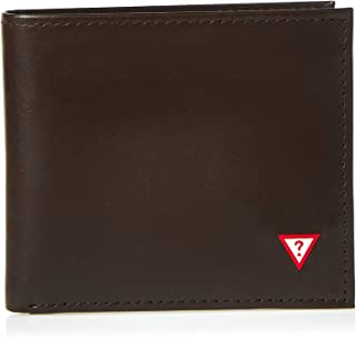 Guess Bifold Wallet For Men, Brown - 31GUE22054,
