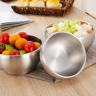 Stainless Steel Bowl, Double Insulated Adult Korean Scrub Insulation Children Rice Soup Bowl (Color : D) Detazhi (Color : C)