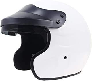 Teen Harley Helmet/DOT Certification/Adult ATV MX Road Race Scooter Riding Helmet Ladies (White),L